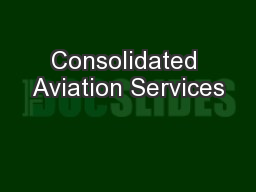 Consolidated Aviation Services
