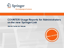 COUNTER Usage Reports for Administrators