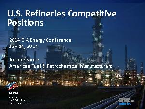 U.S. Refineries Competitive Positions