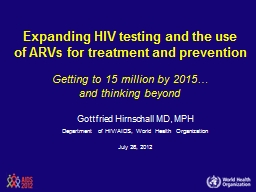 Expanding HIV testing and the use PowerPoint PPT Presentation