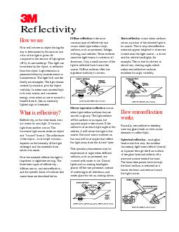 What is reflectivity?How retroreflectionworksReflectivity