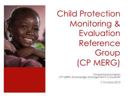 Child Protection Monitoring & Evaluation Reference Grou