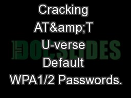 strategies for password cracking One of my favorite password strategies is to incorporate parts of the name of the service i'm using into the password for example, if i'm creating a password for my facebook account, i want to add unique properties to my password that are related to facebook.