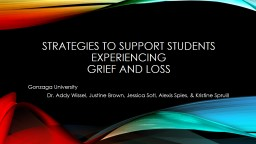 Strategies to support students experiencing