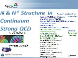 N & N* Structure in PowerPoint PPT Presentation