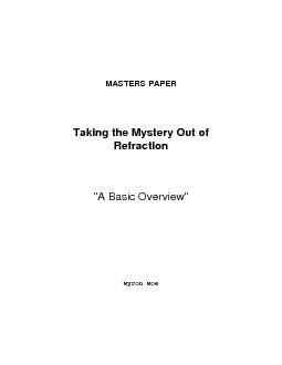 MASTERS PAPERTaking the Mystery Out of