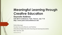 Meaningful Learning through Creative