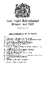 Late Night Refreshment Houses Act 1969 CHAPTER 53 ARRANGEMENT OF SECTI