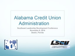 Alabama Credit Union Administration