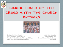 Making Sense of the Creed with the Church