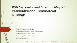 X3D Sensor-based Thermal Maps for PowerPoint PPT Presentation