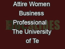 Professional Attire Women Business Professional   The University of Te