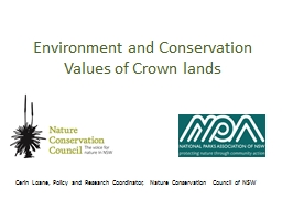 Environment and Conservation Values of Crown lands