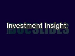 Investment Insight: