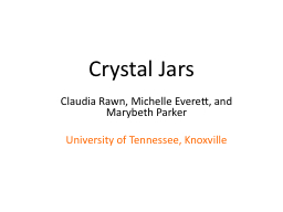 Crystal Jars PowerPoint PPT Presentation