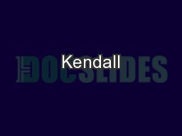 Kendall