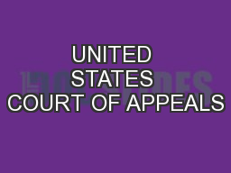 UNITED STATES COURT OF APPEALS PowerPoint PPT Presentation
