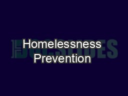Homelessness Prevention & Rapid Re