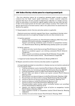1605: Outline of the duty reduction system for re-importing processed