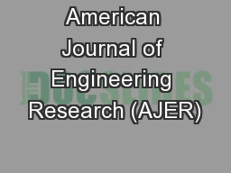 American Journal of Engineering Research (AJER)