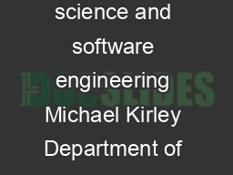 Supporting Casual Tutors and Demonstrators A case study in computer science and software engineering Michael Kirley Department of Computer Science and Software Engineering The University of Melbourne