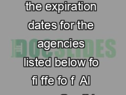 fo fo fi fi f fo f Important Please note the expiration dates for the agencies listed below fo fi ffe fo f  Al anc e Credi t Couns el g Inc  J ohn J