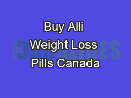 Buy Alli Weight Loss Pills Canada