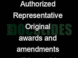 Form Approved OMB No Approval Expires  KEY CONTACTS FORM Authorized Representative Original awards and amendments will be sent to this individual for review and acceptance unless otherwise indicated