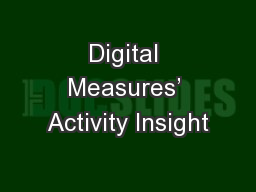 Digital Measures' Activity Insight