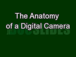 The Anatomy of a Digital Camera