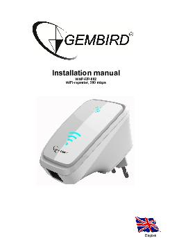 Installation manual WNP-RP-002 WiFi-repeater, 300 mbps