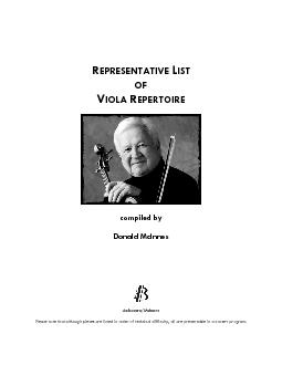 viola.com/McInnes Please note that although pieces are listed in order