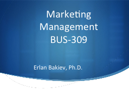 Marketing Management PowerPoint PPT Presentation