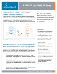 replication solutions. Using Compellent's wizard-based setup, cus