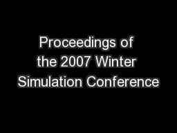 Proceedings of the 2007 Winter Simulation Conference