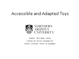 Accessible and Adapted Toys