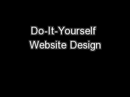 Do-It-Yourself Website Design