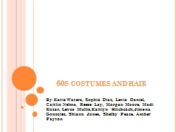 60s costumes and hair