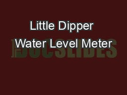 Little Dipper Water Level Meter