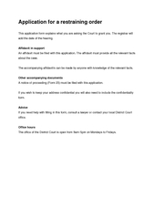 Application for a restraining orderThis application form explains what PowerPoint PPT Presentation