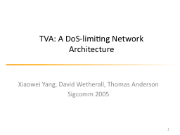 Network capabilities and