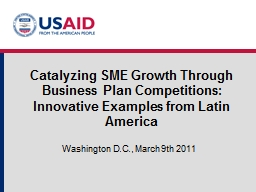 Catalyzing SME Growth Through Business Plan Competitions: I