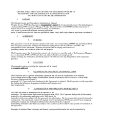 LICENSE AGREEMENT AND LICENSE FOR THE LIMITED PURPOSE OF   RETRANSMITT