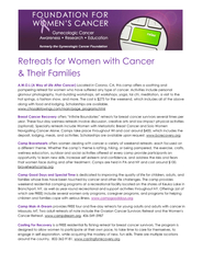 Retreats for Women with Cancer