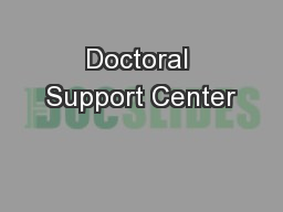 Doctoral Support Center