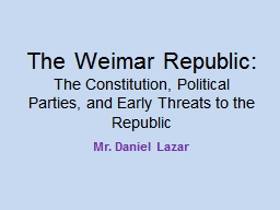 The Weimar Republic:
