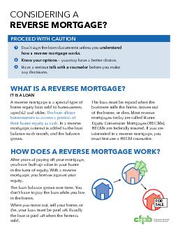 CONSIDERING A TGAGE?how a reverse mortgage works before you make  reve