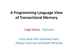 A Programming Language View PowerPoint PPT Presentation