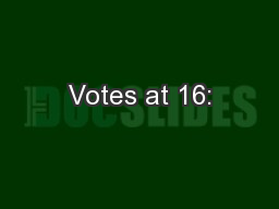 Votes at 16: