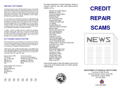 CREDIT REPAIR Help Yourself You see the advertisements in newspapers on TV and on the Internet